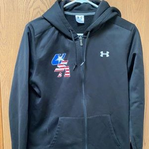 Youth Large USA underarmour zip up